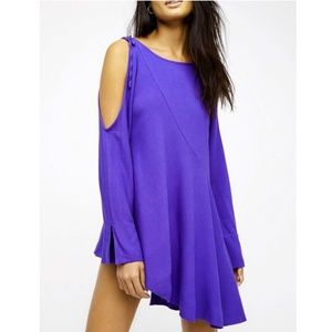 NWT Free People Cold Shoulder Purple Tunic/Dress